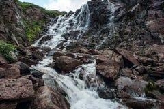 红色峡谷在Teriberka 免版税库存图片