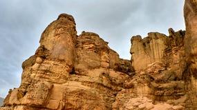 红色峡谷看法  图库摄影