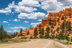 红色峡谷高速公路12 库存图片