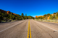 红色峡谷高速公路 免版税库存图片
