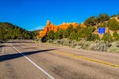 红色峡谷高速公路 库存图片