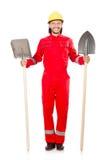 红色工作服的人 库存图片