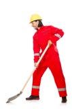 红色工作服的人 图库摄影