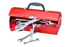 红色工具箱 库存图片