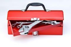 红色工具箱 免版税库存图片