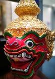 红色巨型演员面具泰国遗产 免版税库存照片