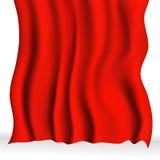 红色布料背景 免版税库存图片