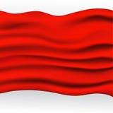 红色布料背景 免版税库存照片