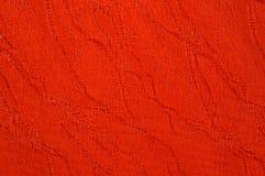 红色帆布纹理  免版税图库摄影