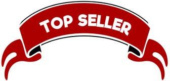红色带的畅销货 免版税库存图片