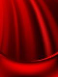 红色帷幕退色对黑暗的卡片。EPS 10 免版税库存图片