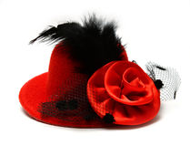 红色帽子 免版税库存图片