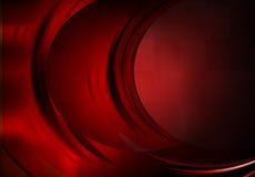 红色并行的曲线 免版税库存图片