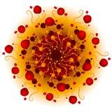 红色幻想打旋纹理 库存照片