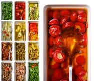 红色开胃小菜意大利的胡椒 图库摄影