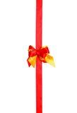 红色弓,丝带 免版税图库摄影