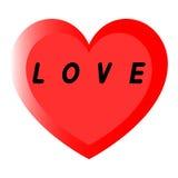 红色心脏为与两道路和黑积土题字的妇女的天 免版税库存照片