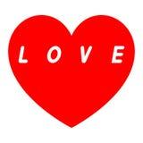红色心脏为与题字的妇女的天 图库摄影
