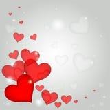 红色心脏为情人节 免版税库存图片