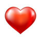 红色心脏传染媒介标志 免版税库存图片