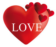 红色心脏例证 免版税库存图片