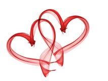 红色心脏可爱的难看的东西背景 免版税库存照片