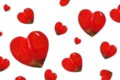 红色心脏抽象派 库存照片