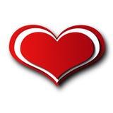 红色心脏被隔绝,不用背景 免版税库存照片