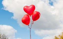 红色心脏迅速增加户外 免版税库存照片
