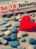 红色心脏,情人节 免版税库存照片