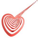 红色心脏, 3D 免版税图库摄影