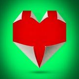红色心脏绿卡 免版税图库摄影