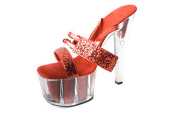 红色性感的鞋子 免版税库存图片