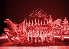 红色恐龙兵马俑 图库摄影