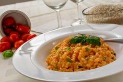 红色意大利煨饭 免版税库存照片