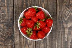 红色成熟草莓 免版税图库摄影