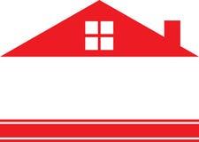 红色房地产商标议院 免版税库存图片