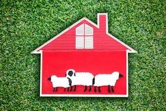 红色房子设计 库存照片