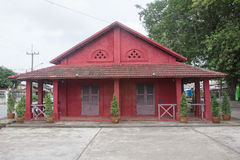 红色房子 免版税库存照片