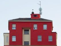 红色房子 免版税库存图片