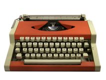 红色打字机 免版税库存照片