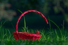 红色打破的篮子 免版税库存图片