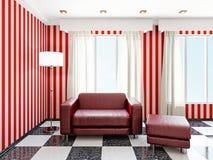 红色扶手椅子 免版税库存图片