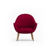 红色扶手椅子 免版税图库摄影