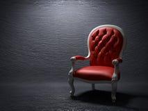 红色扶手椅子 库存照片
