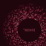 红色技术圆为您的商标模板 能 库存图片