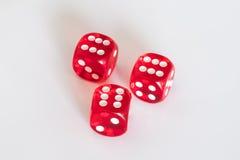 红色把-赢取的模子切成小方块 库存图片