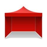 红色折叠的帐篷 免版税库存照片