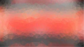 红色抽象几何弄皱的三角低多样式例证图表背景 库存图片