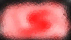 红色抽象几何弄皱的三角低多样式例证图表背景 免版税库存照片